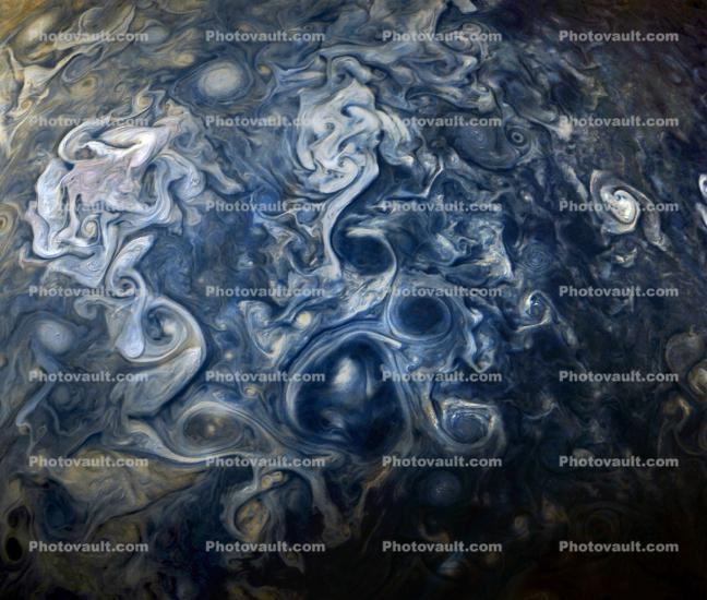Jovian clouds in shades of blue