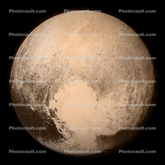 13 July 2015, Pluto photographed by the LORRI and Ralph instruments aboard the New Horizons spacecraft
