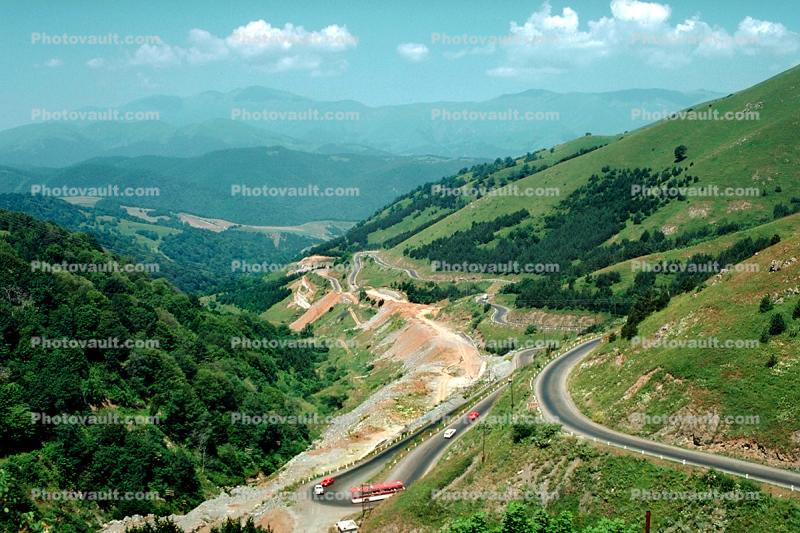 Switchback, Highway, road, mountains, hills, Armenia