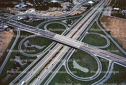 Cloverleaf Interchange, overpass, underpass, intersection, freeway, highway, symmetry, exit, Interstate Highway I-680