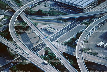 Maze, tangle, overpass, underpass, intersection, interchange, freeway, highway, exit, entrance, entry, Parking Lot, Cincinnati