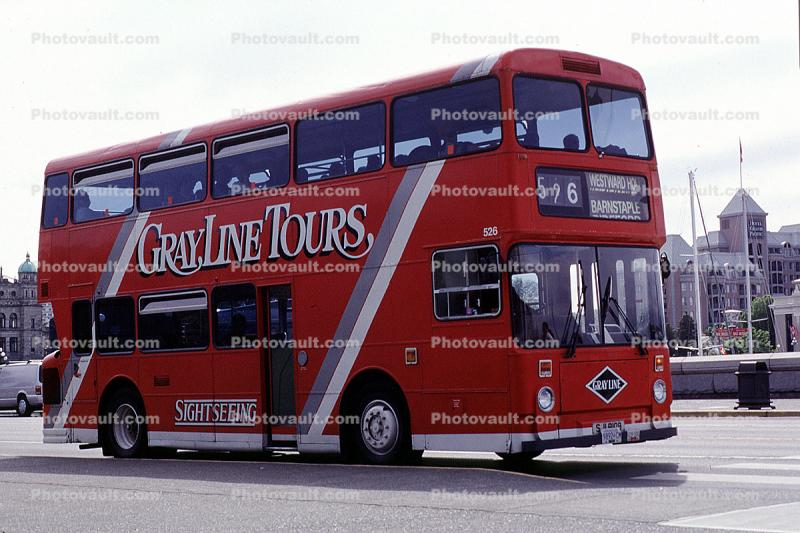 Grayline Tours, Sightseeing, Double Decker bus, Victoria