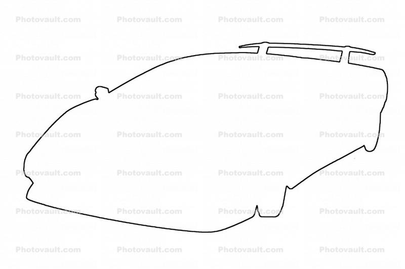 Ferrari outline, line drawing, shape Images, Photography