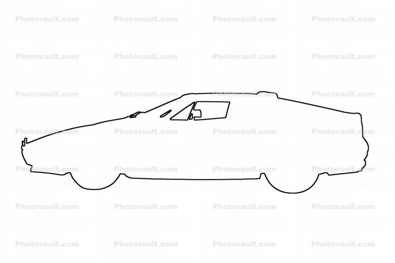 Ferrari outline, automobile, line drawing, shape Images