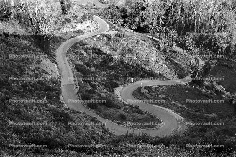 Cross Creek Road, Switchback Road, rural, hill, mountain, Malibu
