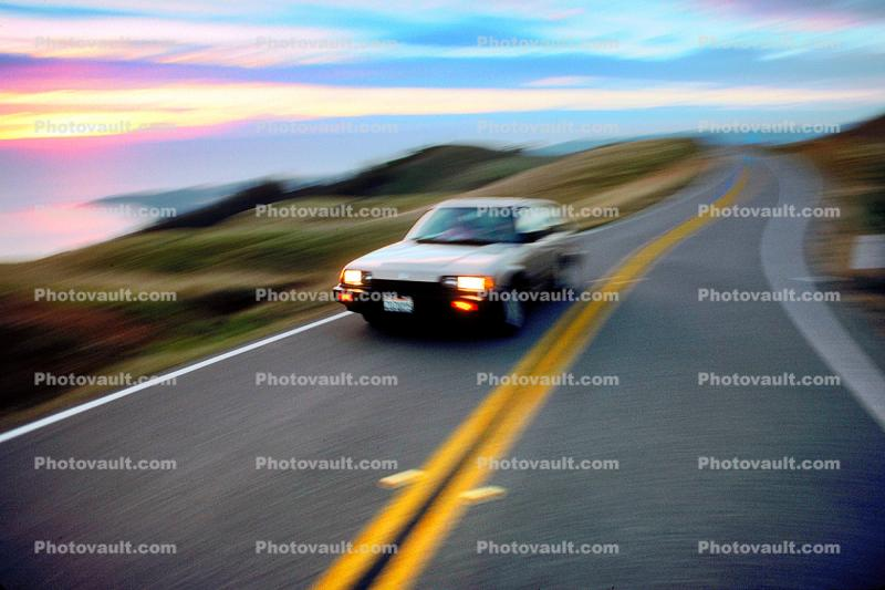 Honda Civic, Highway, Roadway, Road, Mount Tamalpais