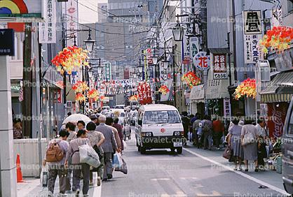 car, Vehicle, crowded, van, Pedestrians, Narita, City Street, Automobile