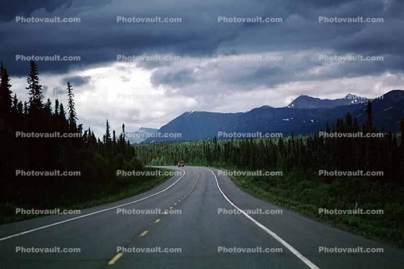 Road, Roadway, Highway, mountains, trees