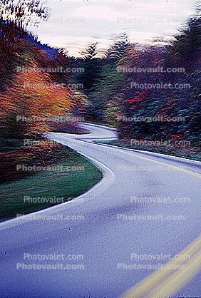 Road, Roadway, Highway 321, North Carolina, autumn