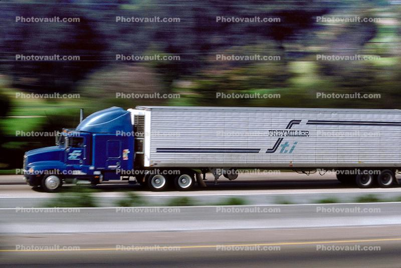 US Highway 101, Semi-trailer truck, Semi