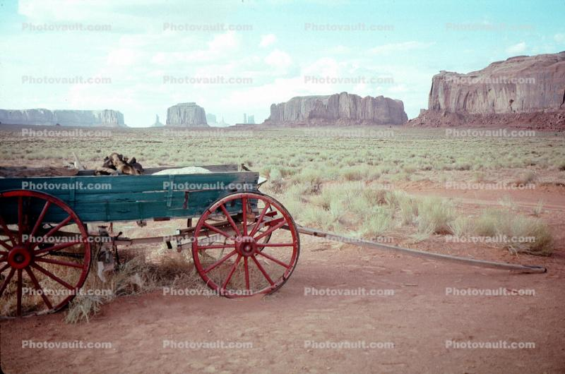 Cart, Wagon, Wheels, Monument Valley
