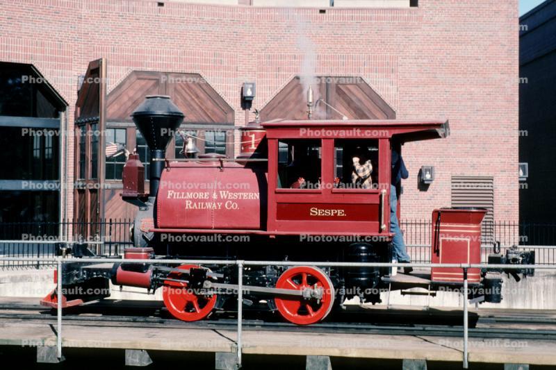 Sespe 1, Fillmore & Western Railway Co , Steam Engine