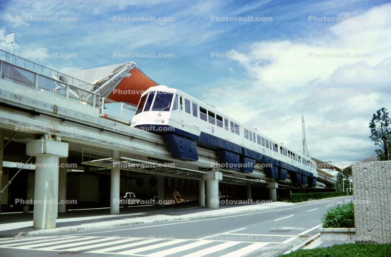 Monorail Japan World's Fair, Elevated Tram, Expo70, Osaka, May 1970, 1970s
