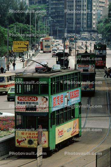 Doubledecker, Trolley, Hong Kong, 1982, 1980s