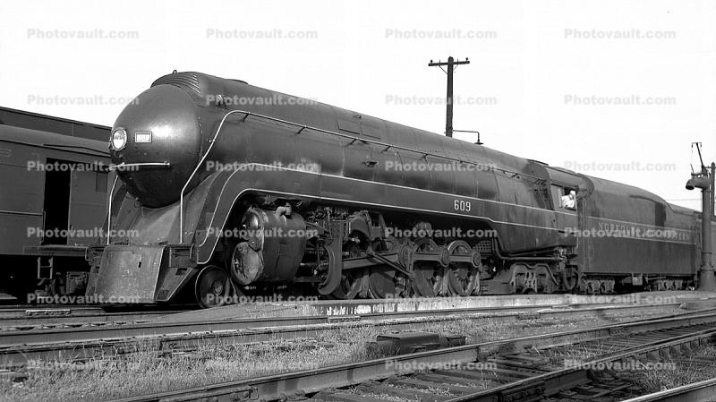 NW 609, Norfolk & Western, J-Class 4-8-4 Streamlined Locomotive, Art-Deco, 1930's