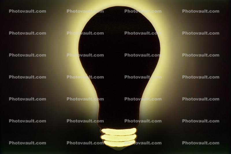 Light Bulb, Blank Area for Titles