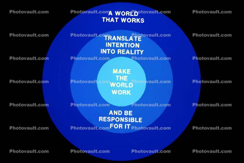 A World That Works, Translate Intention Into REality, Make the World Work, And be Responsible for It, Round, Circle, Circular