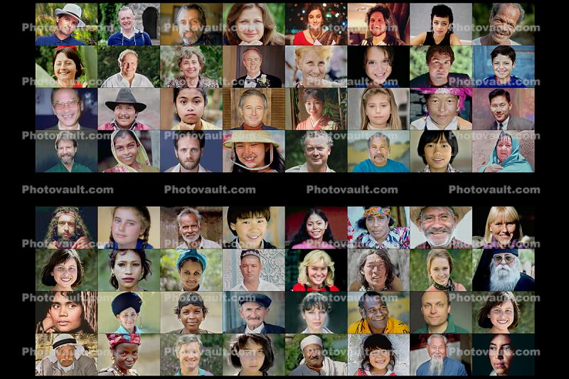 Faces in a Grid, Diversity