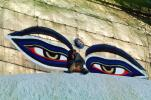 Buddha Eyes, Stupa, Buddha's Eyes, Stupa Boudhanath, Dome, Flags, Kathmandu, Sacred Place, Buddhist Shrine, temple, building, AMPV01P03_06