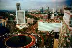 Traffic Circle, cars, Skyline, Building, Skyscraper, Downtown, smog, highrise, Jakarta Cityscape, automobile, vehicles, CADV01P07_09.0625