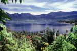 Volcanic Lake, Jungle, Trees, Mountains, Caldera, Lake Maninjan, Danau Maninjau, West Sumatra, Indonesia