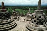 Borobudur Temple, near Magelang, Central Java, Monument, landmark, shrine, UNESCO World Heritage Site, CADV01P08_14
