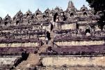 Borobudur Temple, shrine, near Magelang, Central Java, CADV01P10_18