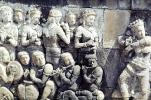 People Rock Carving, Musicians, bas-relief