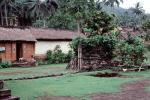 building, grass thatched roof, village, homes, path, Tenganan Bali, Sod, CADV02P01_02