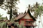 unique, grass thatched roof, home, house, building, spikey top, Padang