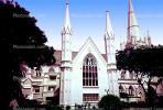 Saint AndrewÕs Cathedral, Anglican Church, Christian, Religion, Religious, Building, Singapore