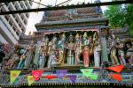 Sri Krishnan Temple, Waterloo street, Statues, shrine, effigies, Hindu figures, Hinduism, Hindi