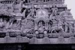 Stone Carvings, Chariot, bar-Relief, Bhubaneswar, Orissa, 1950s