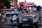 Cars, City Street Scene, Intersection, crowded, vespa, Mumbai