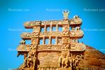 Figurines, The Great Stupa at Sanchi, Eastern Gateway, Buddhist complex
