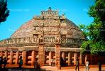 The Great Stupa at Sanchi, Eastern Gateway, Buddhist complex, Madhya Pradesh