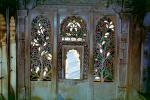 Door, doorway, ornate, flowers, opulant, City Palace, stained glass, Udaipur, Rajasthan, CAIV03P13_19