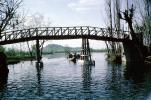 foot bridge, lake, bridge, Kashmir, CAIV04P03_13