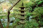 Garden, Stone Pagoda, trees, Buddhist Shrine, Gotemba, CAJV02P12_04.3339