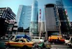 Shinjuku, Cars, Taxi Cabs, Traffic, street, Glass Buildings, CAJV03P06_16.0629