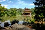Golden Temple, Forest, Lake, Moat, Kyoto