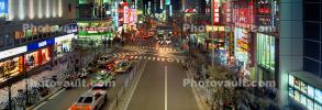 Shops, Stores, Cars, Neon Lights, Street Scene, Tokyo Panorama, CAJV06P03_04