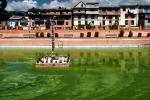 Pond, buildings, homes, Kathmandu