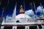 Stupa Boudhanath, Dome, Flags, Kathmandu, Sacred Place, Buddhist Shrine, temple, building, CANV01P02_11.3339