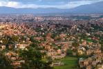 Kathmandu Valley, Homes, Houses, buildings, skyline, mountains, CANV01P06_03.0630