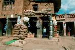 Store, Water, Burlap Bags, sack, jugs, boy, Araniko Highway