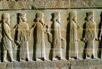 bar-Relief men walking, Persepolis, 1950s, CARV01P03_17.0631