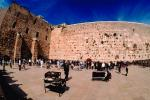 The Old City, Western Wall, Wailing Wall or Kotel, Jerusalem, Shore, buildings, hills, harbor, CAZV02P14_14.3341