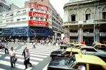 Taxi Cabs, Crosswalk, Cars, automobile, vehicles