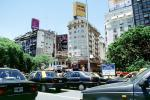 Taxi Cabs, Buildings, Cars, automobile, vehicles, Traffic Jam, Buenos Aires